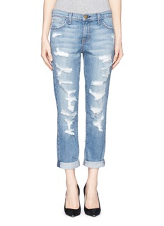 CURRENT/ELLIOTT 'The Fling' cropped rip jeans