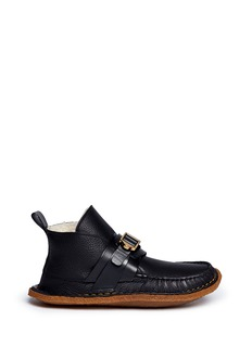 CHLOÉShearling leather moccasin boots