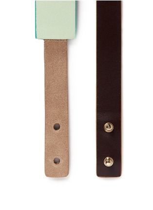 Detail View - Click To Enlarge - Givenchy - 'Show' colourblock leather suede belt