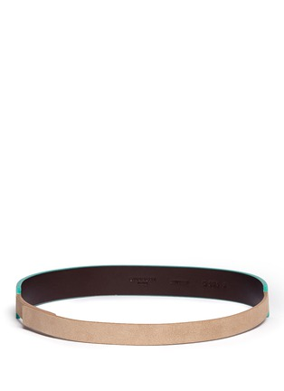 Back View - Click To Enlarge - Givenchy - 'Show' colourblock leather suede belt