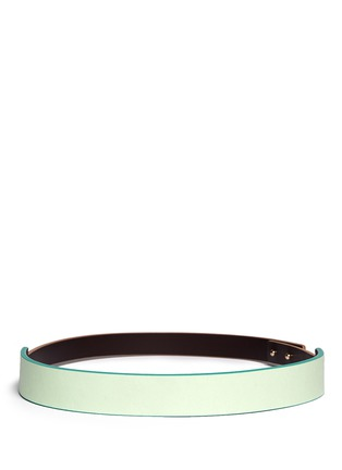 Main View - Click To Enlarge - Givenchy - 'Show' colourblock leather suede belt