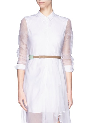 Figure View - Click To Enlarge - Givenchy - 'Show' colourblock leather suede belt