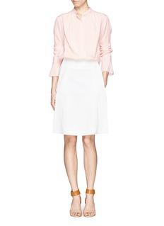 CHLOÉSplit cuff silk crepe pleat blouse