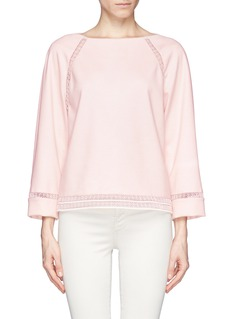 CHLOÉEmbroidered lace trim pullover