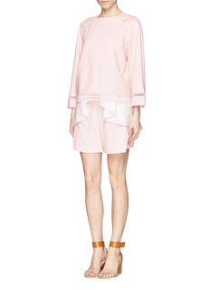 CHLOÉ Embroidered lace trim pullover