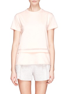 CHLOÉDouble layer embroidery trim T-shirt
