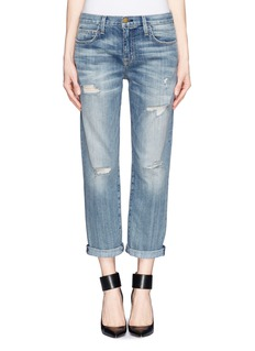 CURRENT/ELLIOTT The Boyfriend distressed jeans