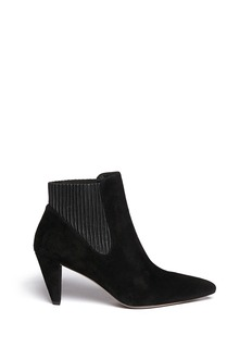 ALEXANDER WANG  'Veisa' ribbed leather cuff suede Chelsea boots