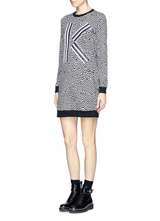 KENZO 'K' appliqué sweatshirt dress