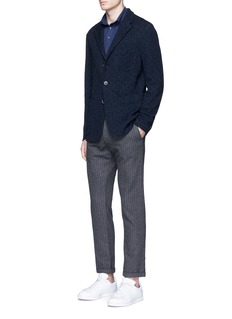 Barena'Torceo Doni' diamond jacquard jersey soft blazer