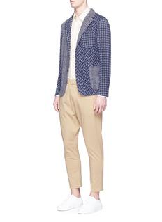 Barena'Torceo Tiole' dot houndstooth patchwork knit soft blazer