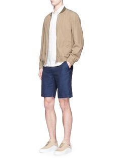 Barena'Nassa Nache' cotton-linen twill shorts