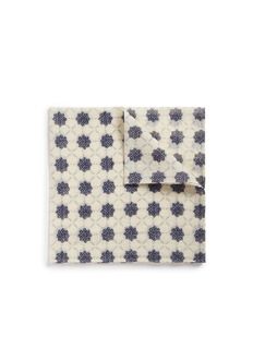 EidosFloral blur print cotton-linen pocket square