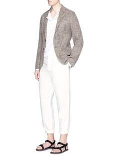 EidosLinen-cotton hopsack soft blazer