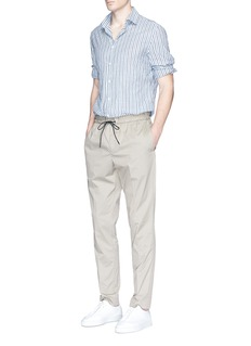 Eidos Stripe cotton hopsack shirt