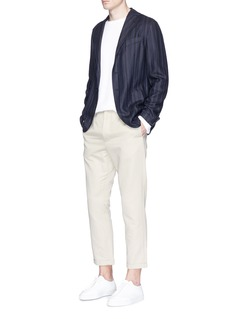 Eidos Stripe silk-linen-wool soft blazer