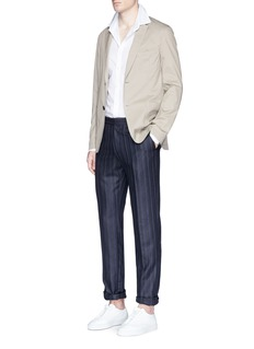 Eidos Stripe silk-linen-wool pants