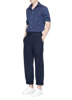 EidosDash print wide leg hopsack pants