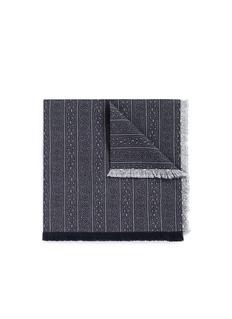 EidosFloral scroll print cotton pocket square