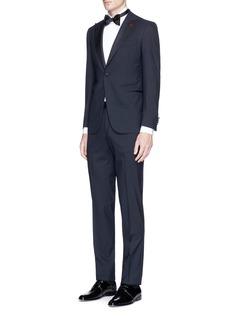ISAIA'Gregory' repp trim wool tuxedo suit