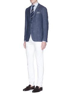 ISAIA'Cortina' wool-silk blend blazer