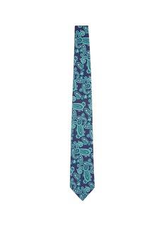 ISAIAPaisley print silk-cotton tie