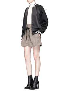 3.1 Phillip Lim Floral patch silk front bomber jacket