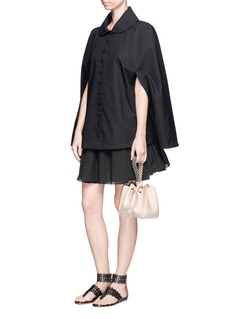 Alaïa Cotton blend cape raincoat