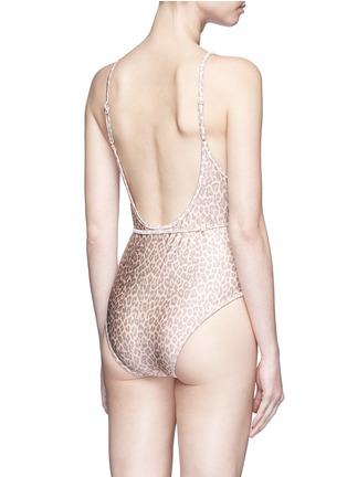 Back View - Click To Enlarge - Zimmermann - 'Valour Scoop Bar' leopard print one-piece swimsuit