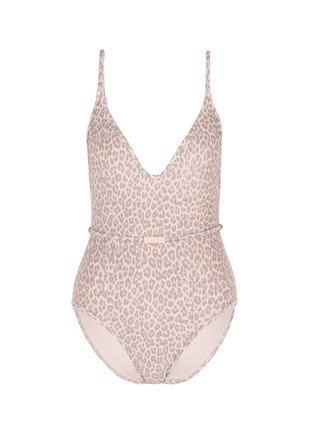 Main View - Click To Enlarge - Zimmermann - 'Valour Scoop Bar' leopard print one-piece swimsuit
