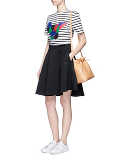 Etre Cecile  Collage dog face print stripe T-shirt