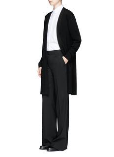 Calvin Klein CollectionWool knit open cardigan