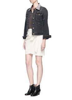Isabel Marant Étoile'Christa' beaded collar denim jacket