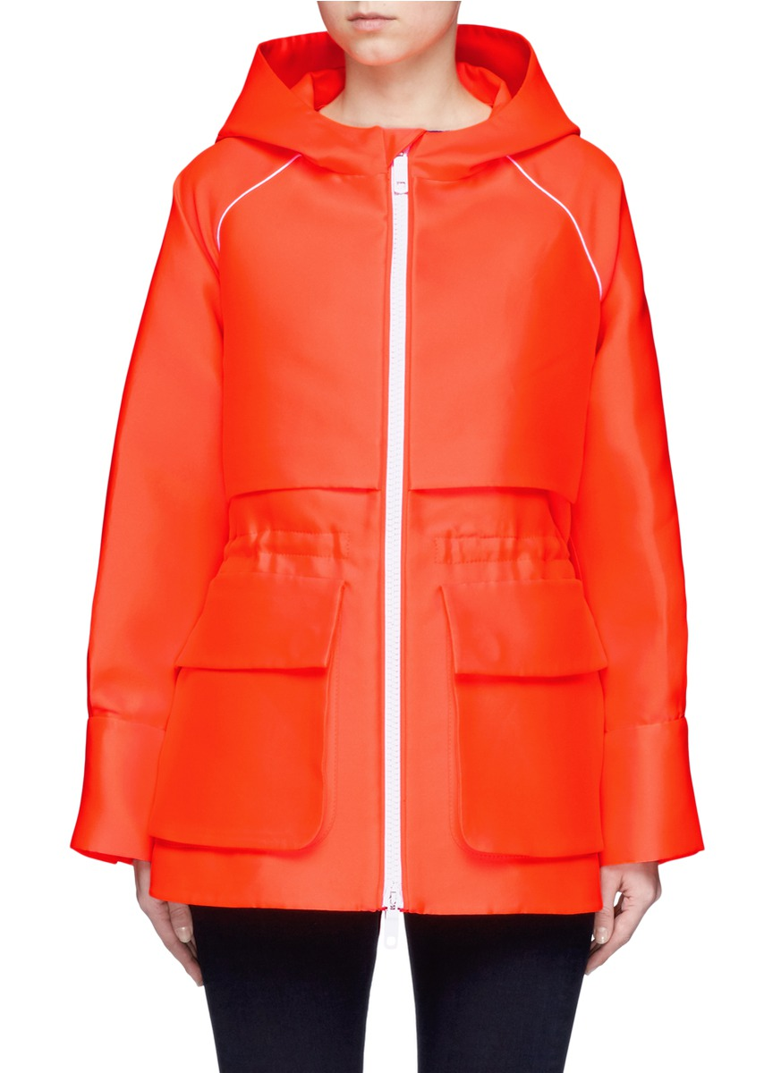 Drawstring waist hooded parka by Emilio Pucci