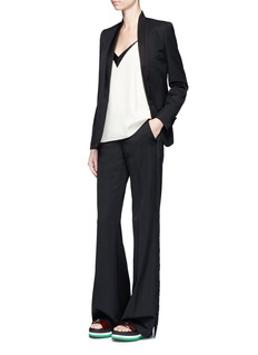 Stella McCartney 'Electra' fringed wool tuxedo pants
