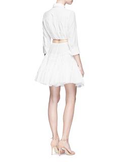 Alaïa 'Voile Pastilles' dot broderie anglaise flared skirt