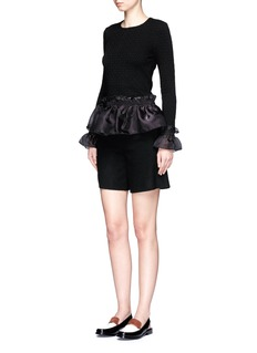 Opening CeremonyOrgandy ruffle floral jacquard top
