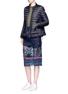 MONCLER Diantha系带缀饰羽绒夹克
