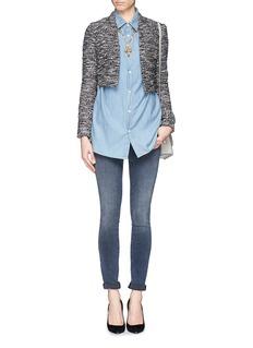 ALICE + OLIVIA'Madine' tweed crop blazer