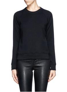 THEORY'Five' micro houndstooth cloqué sweatshirt