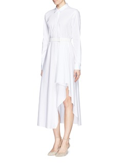 THEORY 'Diaz' cotton poplin asymmetric shirt dress