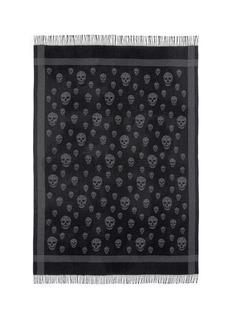 Alexander McQueenSkull print wool-cashmere shawl