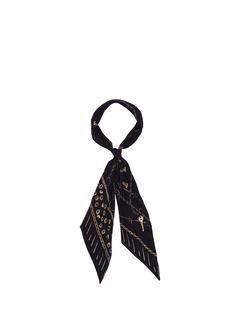 Rockins'Nuts & Bolts' classic skinny silk scarf