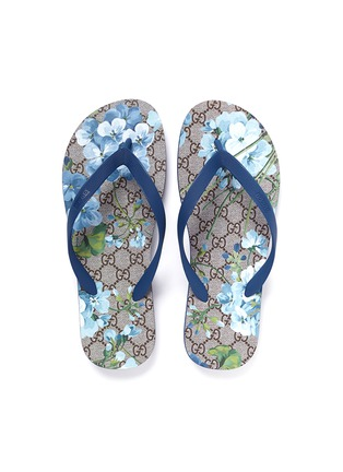 Detail View - Click To Enlarge - Gucci - 'GG Blooms' print flip flops