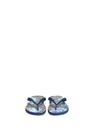 Front View - Click To Enlarge - Gucci - 'GG Blooms' print flip flops