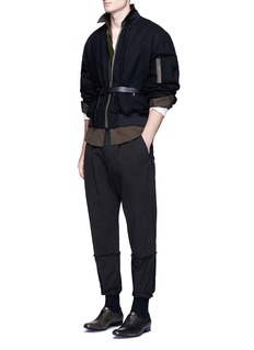 Haider AckermannPadded fleece wool bomber jacket