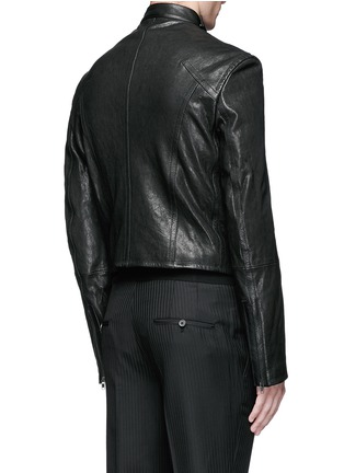 Back View - Click To Enlarge - Haider Ackermann - 'Miza' lace-up front leather jacket