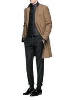 'Miza' lace-up front leather jacket