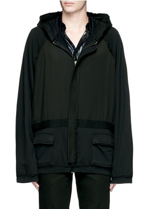 Main View - Click To Enlarge - Haider Ackermann - 'Perth' oversized zip hoodie