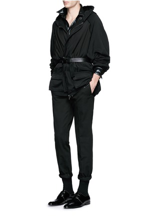 Figure View - Click To Enlarge - Haider Ackermann - 'Perth' oversized zip hoodie